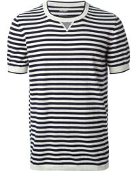 Dondup Striped Short Sleeve Sweater - Lyst