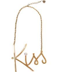 Lanvin Kiss Crystal Necklace - Lyst