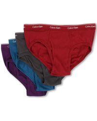 Calvin Klein Cotton Classic Low Rise Brief 4-pack - Lyst