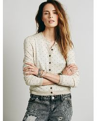 Free People Little Dots Cardi - Lyst