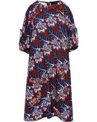 Thakoon Tahitian Floral Bare Shoulder Mini Dress - Lyst