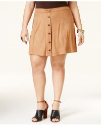 American Rag - Trendy Plus Size Faux-suede A-line Skirt, Only At Macy's - Lyst
