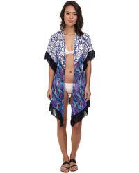 Maaji Bleu Saddles Kimono Cover-Up - Lyst