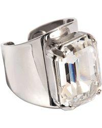 Helene Zubeldia - Crystal Octogone Adjustable Ring - Lyst