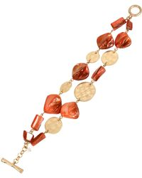 Kenneth Cole Mixed Shell And Bead Two-Row Bracelet - Lyst
