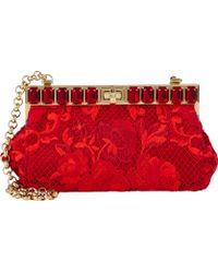 Dolce & Gabbana Red Ricamo Pochette - Lyst