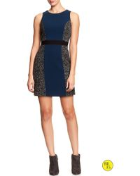 Banana Republic Factory Bouclé Colorblock Sheath - Lyst