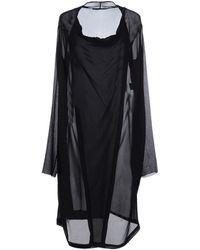 Peachoo + Krejberg Knee-Length Dress black - Lyst
