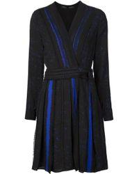 Proenza Schouler | Contrast Wrap Dress | Lyst