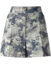 Philosophy di Alberta Ferretti Woven Patterned Shorts - Lyst