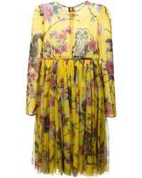Dolce & Gabbana Enchanted Forest Midi Dress - Lyst