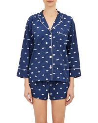 Sleepy Jones Marina Pills-Print Pajama Shirt - Lyst