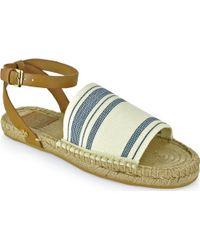Tory Burch Elastic Espadrille - Flat Sandal - Lyst