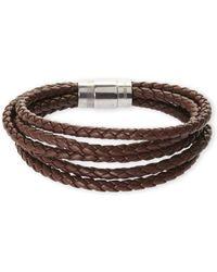 Blackjack - Multi Strand Leather Bracelet - Lyst