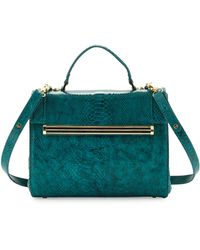 Ivanka Trump Kelly Snakeprint Satchel Bag - Lyst