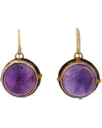 Judy Geib Amethyst Gold  Oxidized Silver Drop Earrings - Lyst