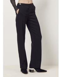 Maison Margiela | Black Zip Detail Pant | Lyst