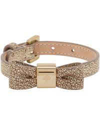 Mulberry Bow Bracelet gray - Lyst