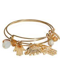 Cara - Charm Bangle Bracelet Set - Lyst