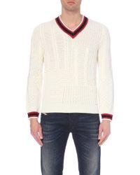 Diesel K-Corno Knitted Jumper - For Men beige - Lyst