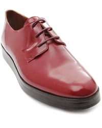 B Store Seb Burgundy Leather Derbies - Lyst