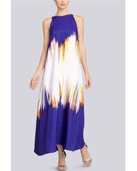 Natori Printed Silk Twill Dress - Lyst