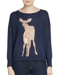 French Connection Intarsia-deer Pullover - Lyst