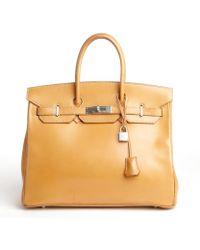 Hermès Preowned Birkin Vache Leather 35Cm beige - Lyst