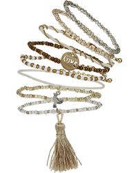 Topshop Bead and Charm Bracelet Pack  Cream - Lyst