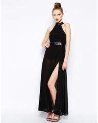 Jarlo Juliet Maxi Dress with Sheer Skirt - Lyst