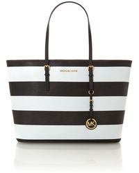 Michael Kors Jet Set Travel Stripe Multi Coloured Tote Bag - Lyst