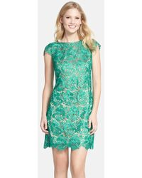 Eliza J Lace Fit & Flare Dress - Lyst