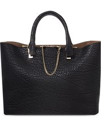 Chloé Baylee Grained Calf Leather Tote Black - Lyst