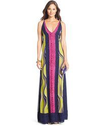 Diane von Furstenberg Dvf Mckinley Silk Maxi Dress - Lyst