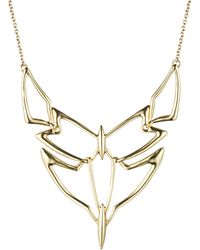 Alexis Bittar Kinetic Gold Geometric Linked Bib Necklace - Lyst