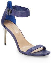 BCBGMAXAZRIA Polaris Embossed-Leather Sandals - Lyst