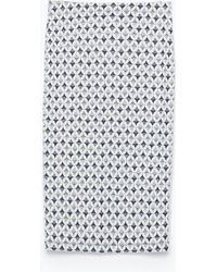 Zara Jacquard Tube Skirt - Lyst