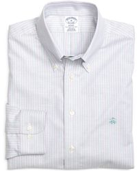 Brooks Brothers Non-Iron Regent Fit Track Stripe Sport Shirt - Lyst