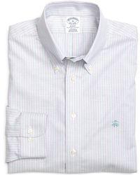 Brooks Brothers Non-iron Slim Fit Track Stripe Sport Shirt - Lyst