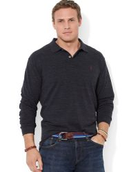 Polo Ralph Lauren Big and Tall Longsleeved Mesh Polo Shirt - Lyst