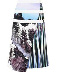 Peter Pilotto Alps-Print A-Line Skirt - Lyst