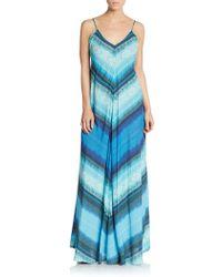 Twelfth Street Cynthia Vincent | Mitered Striped Maxi Dress | Lyst