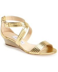 Jimmy Choo 'Chiara' Leather Sandal - Lyst