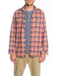 Faherty Brand Orange Belmar Workshirt - Lyst