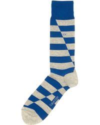 Calvin Klein Broken Stripe Sock - Lyst