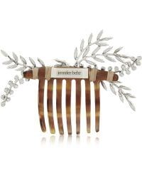 Jennifer Behr Grand Laurel Swarovski Crystal-Embellished Hair Comb - Lyst