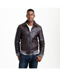 J.Crew Leather Flight Jacket - Lyst