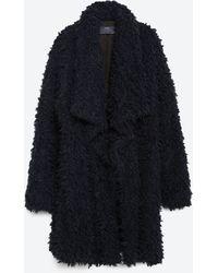 Zara | Long Faux Fur Coat | Lyst