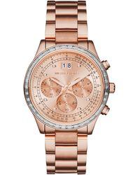 Michael Kors Women'S Chronograph Brinkley Rose Gold-Tone Stainless Steel Bracelet Watch 40Mm Mk6204 - Lyst