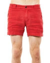Michael Bastian - Hickery Linen Shorts - Lyst